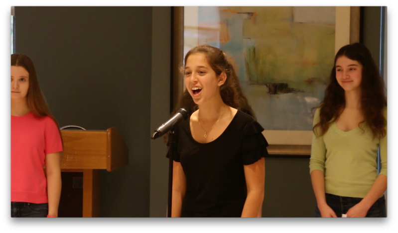 Screen shot of video of Marak Hayom performing at Revitz House, Rockville as part of Mitzvah Day.