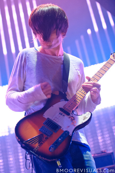 Jonny Greenwood of Radiohead performs on February 29, 2012 at Tampa Bay Times Forum in Tampa, Florida