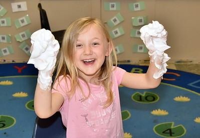 Kindergarten Fun With Foam photos by Gary Baker