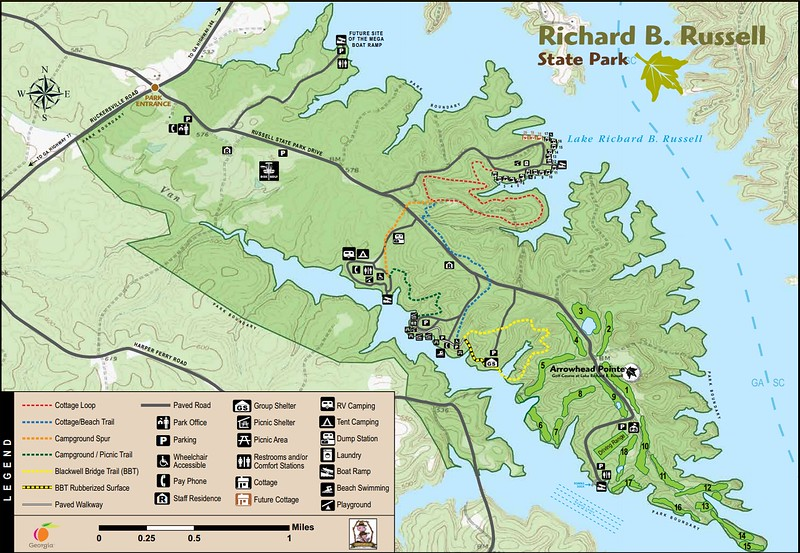 Richard B. Russell State Park (Trail Map)