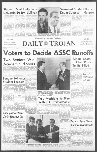 Daily Trojan, Vol. 56, No. 111, May 05, 1965
