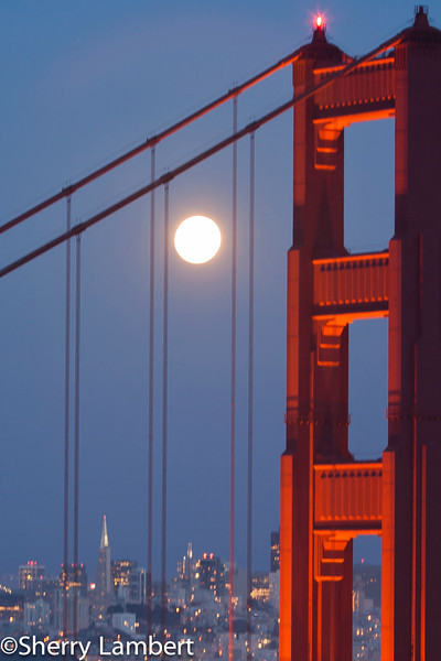 Golden Gate Bridge and Super Moon!