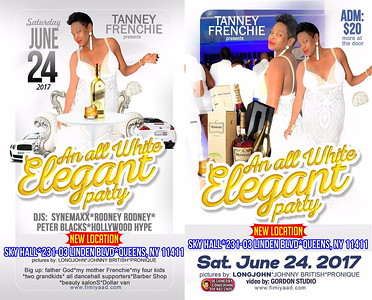 "TANNEY FRENCHIE presents ""AN ALL WHITE ELEGANT PARTY""(14)"