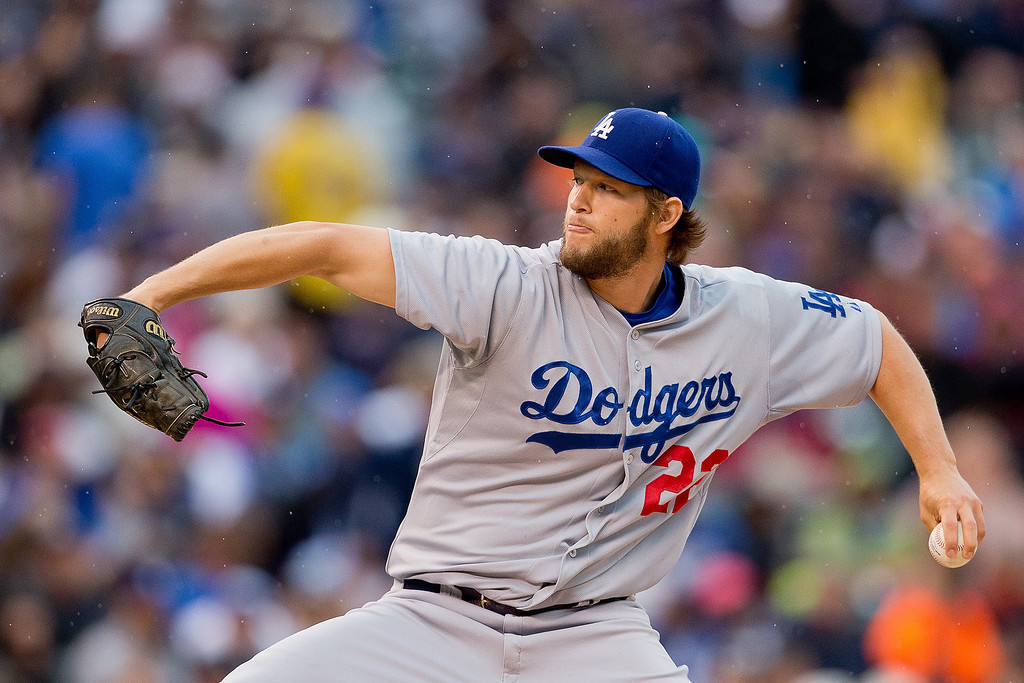 . Starting pitcher Clayton Kershaw #22 of the Los Angeles Dodgers delivers to home plate during the second inning against the Colorado Rockies at Coors Field on June 8, 2014 in Denver, Colorado. (Photo by Justin Edmonds/Getty Images)