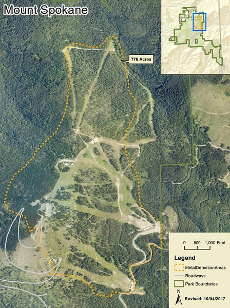 Mount Spokane State Park (Metal Detection Areas)