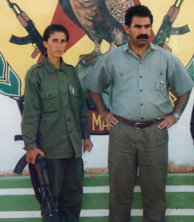 . Sakine Cansiz (L) is seen with Kurdistan Workers Party (PKK) chief Abdullah Ocalan in this 1995 file photo. To match Special Report FRANCE-KURDS/    REUTERS/Ihlas News Agency/Files