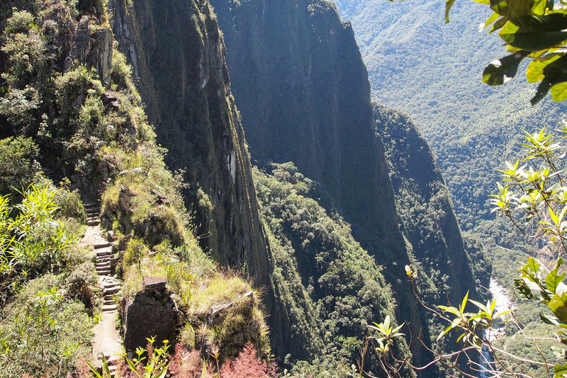 Steep paths toward Huayna Picchu.