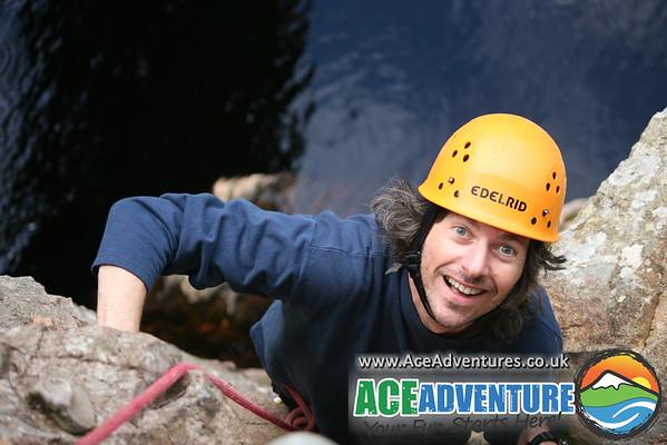 17th August 2011 - River Raiders High Ropes Course, Abseil, Via Ferrata, Zip Wire, Tyrolean Traverse, Cave Ladder and Rock Climb