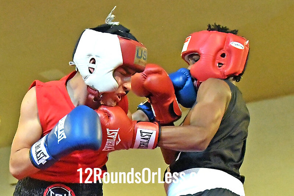 Bout 6 Jasir Riley, Red Gloves, Cleveland -vs- Jordan Savr, Blue Gloves, Cleveland
