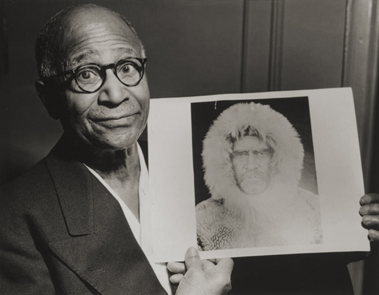 . Matthew Alexander Henson (August 8, 1866 � March 9, 1955) was an African American explorer and associate of Robert Peary on various expeditions, the most famous being a 1909 expedition during which he may have been the first person to reach the Geographic North Pole. Matthew Henson, holding a portrait of Robert E. Peary taken during an expedition to the North Pole. World-Telegram photo by Roger Higgins.