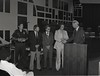 Mayor Hudnut at IPD Quarterly Awards, September 15, 1983, Img. 25, with Joseph McAtee