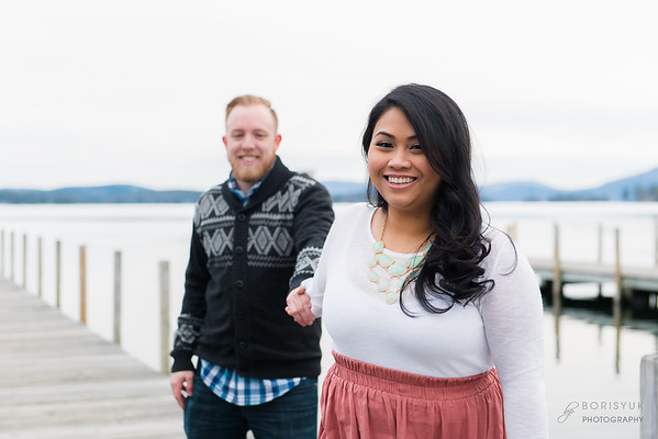 Lake Winnipesaukee Engagement: Bunnary & Bryan