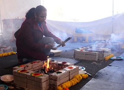 2016-02-27 Havan at the Shri Shirdi Saibaba Temple of Rockies