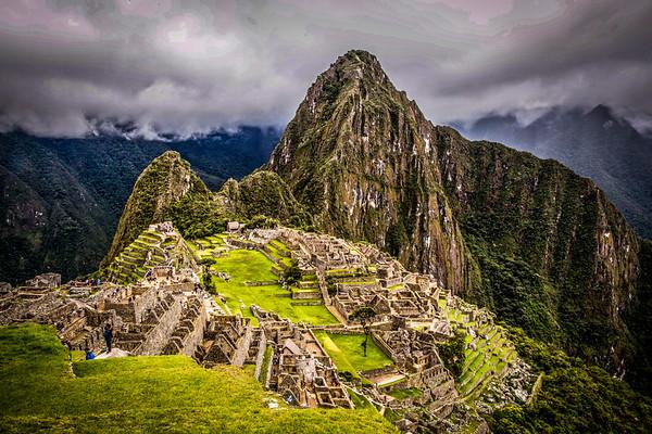Visiting Machu Picchu the Peruvian Historical Sanctuary, Peru - May, 2015