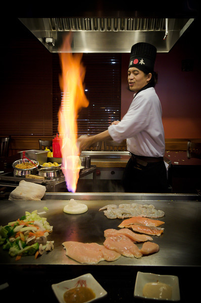 Day 349: Hibachi Volcano Jordon and I ate supper at the Tokyo Hibachi and Sushi restaurant. Originally we were going to eat some sushi but we decided to go for the hibachi instead. It was a fun meal.
