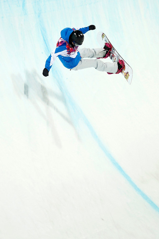 . Mirabelle Thovex of France in action during the semi final of the women\'s snowboard halfpipe competition at the XXII Winter Olympics 2014 Sochi in Krasnaya Polyana, Russia, on Wednesday, February 12, 2014.  EPA/PETER KLAUNZER