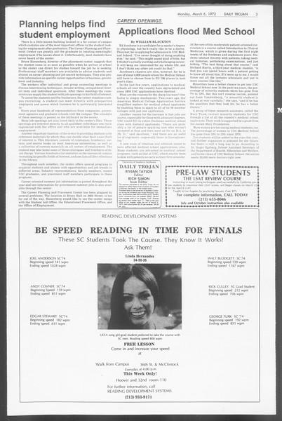 Daily Trojan, Vol. 64, No. 82, March 06, 1972