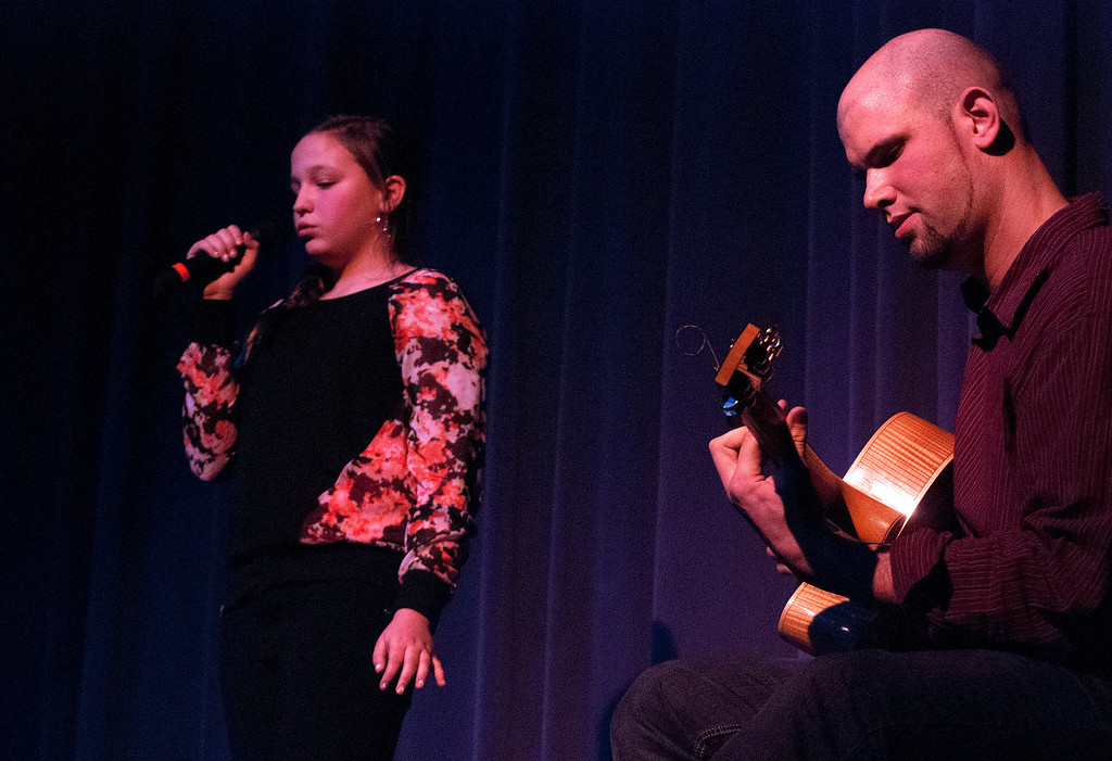 . Kayla Rice/Reformer Lauryn Sargent and David Wheeler perform during the Winter Carnival variety show on Tuesday evening.
