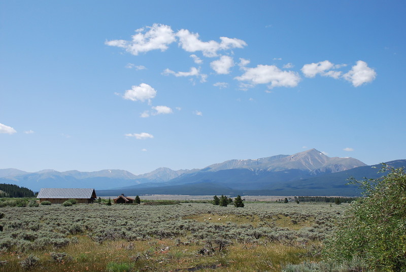 Outside of Leadville on Colorado 5, leading to High Mountain Institute.