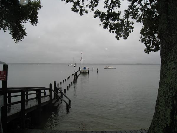 Fishing Bay dock at high tide