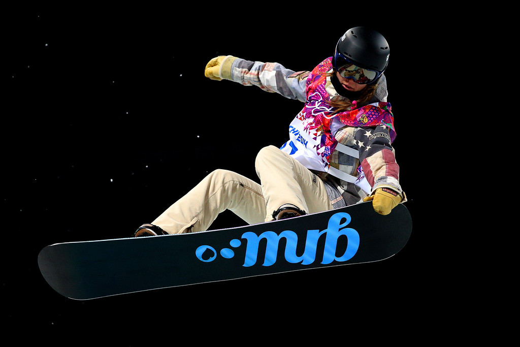 . Kaitlyn Farrington of the United States competes in the Snowboard Women\'s Halfpipe Semifinals on day five of the Sochi 2014 Winter Olympics at Rosa Khutor Extreme Park on February 12, 2014 in Sochi, Russia.  (Photo by Cameron Spencer/Getty Images)