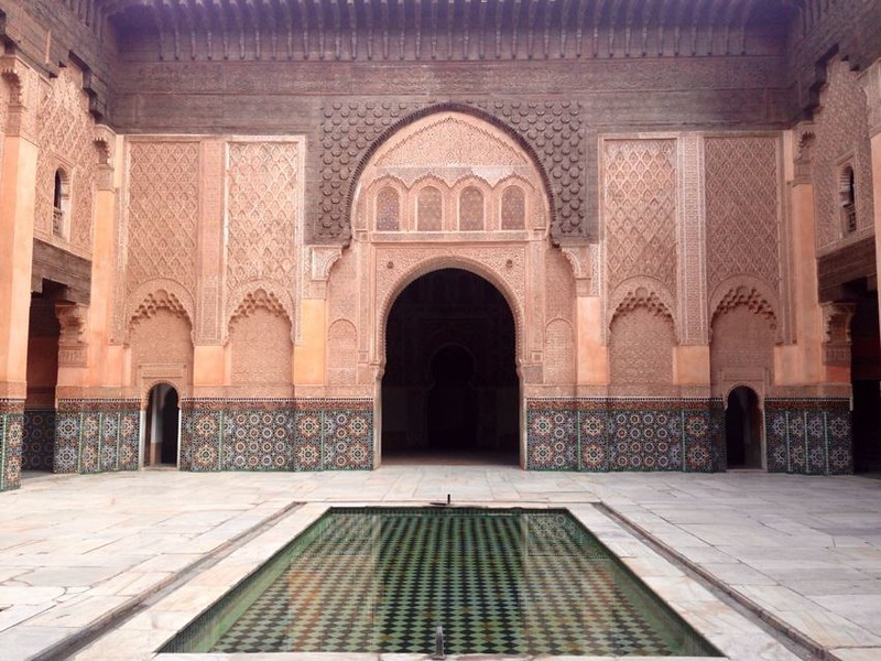 Don't miss the Ali Ben Youssef Mosque in Marrakesh on a solo female trip to Morocco.
