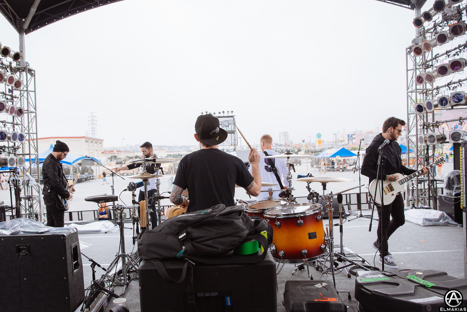 A Day To Remember soundcheck at base in Okinawa