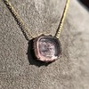 'INV My Letter' Pale Pink Glass Rebus Pendant, by Seal & Scribe 24