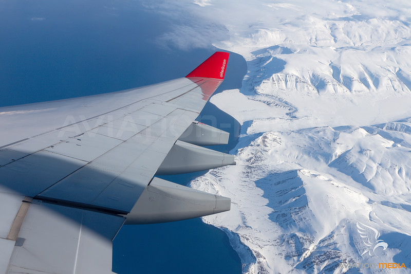 Wing View over Antarctica
