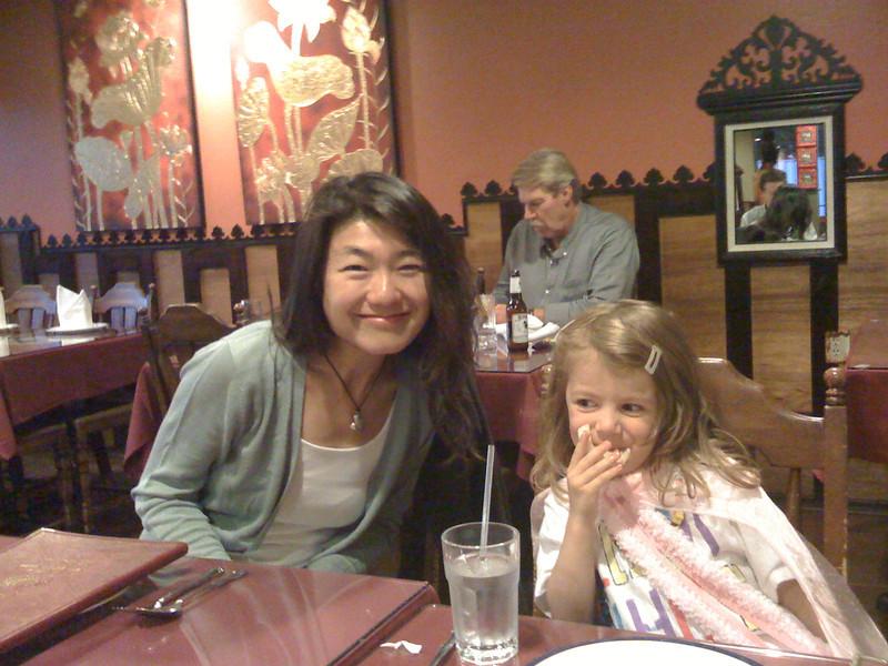 Aunt Rika and Sam at Sawadee