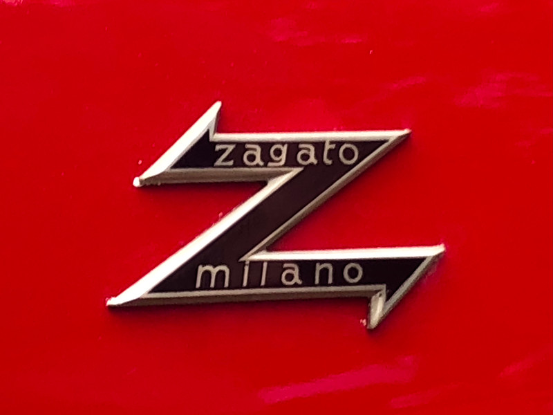 Zagato body tag.  Alfa Romeo Sprint Veloce