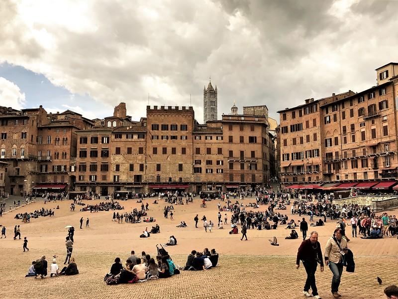 Piazze del Campo in Siena, Italy