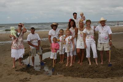 Teamfoto's vechten tegen de zee 2009