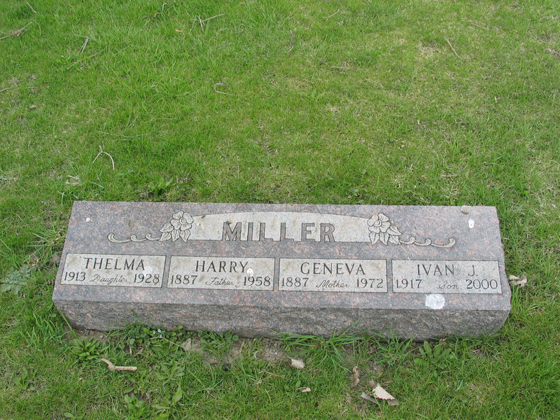 Miller. Thelma, Harry, Geneva, Ivan J.