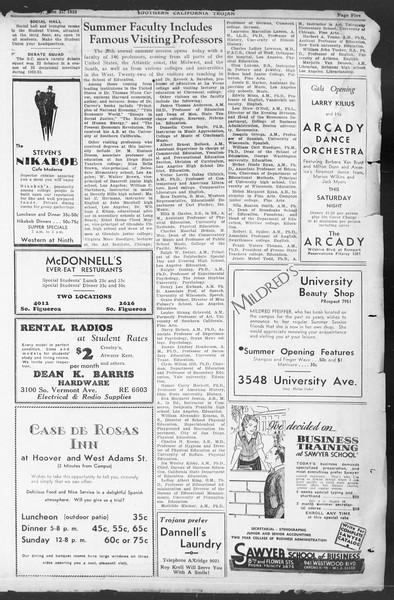 Southern California Trojan, Vol. 12, No. 1, June 21, 1933