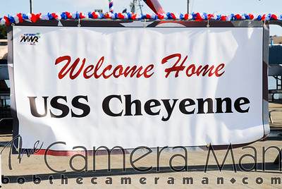 BEFORE MOORING - Ed's Point of View - USS Cheyenne 2007 Homecoming