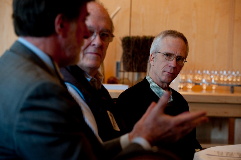 (L-R): John Delaney, Professor of Oceanography, University of Washington; Roger Payne, Founder and President, Ocean Alliance; and Eric Scigliano, News Editor, Seattle Metropolitan magazine