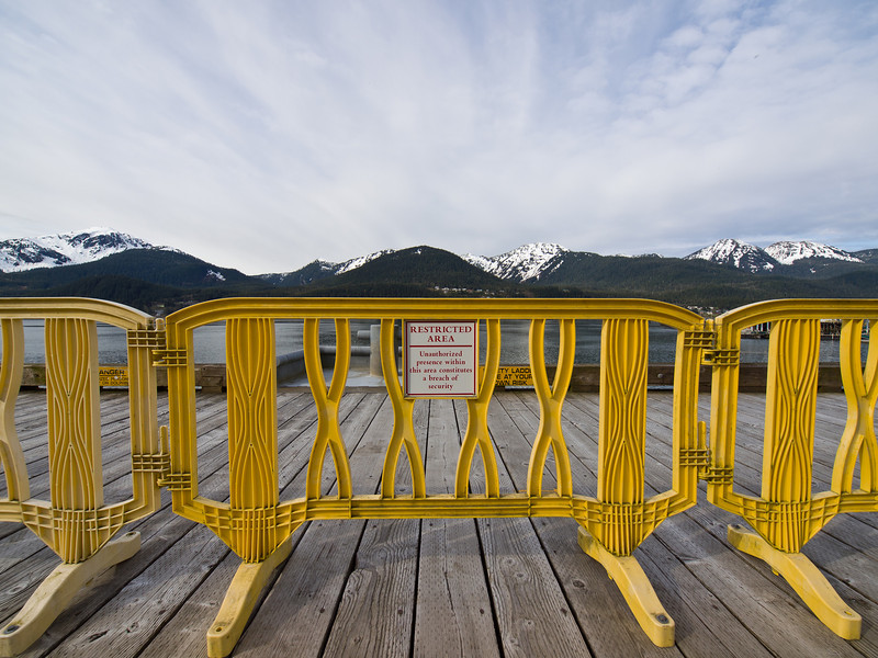 Restricted Area. A new barrier greets Juneauites down at the docks where the tourist ships tie up. May 5, 2010.