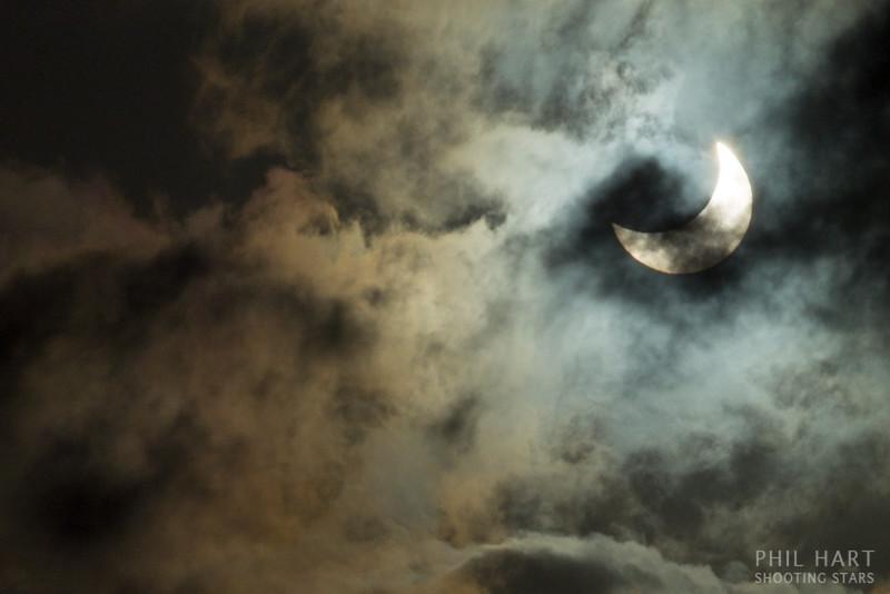Partial Eclipse through Clouds