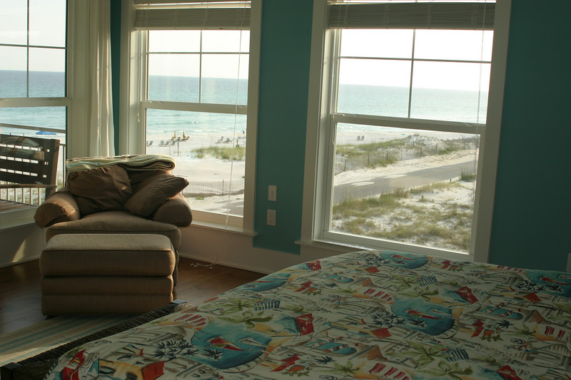 third floor master bedroom view