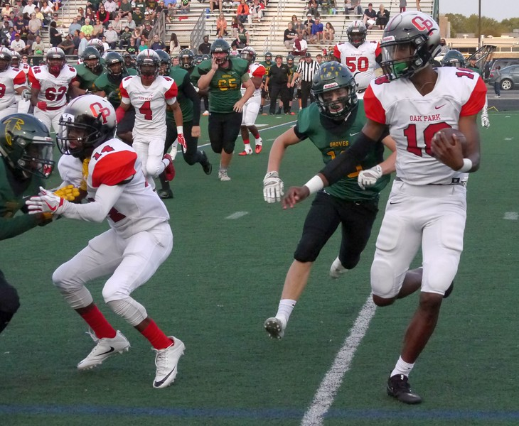 Oak Park defeated Groves, 34-14, Friday Sept. 15, 2017. (Oakland Press photo gallery by Jake Thielen)