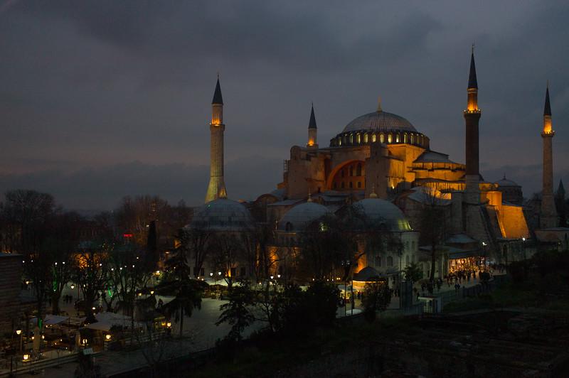 Hagia Sophia evening
