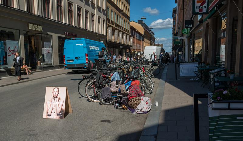 Women on the street, Stockholm, June 2015