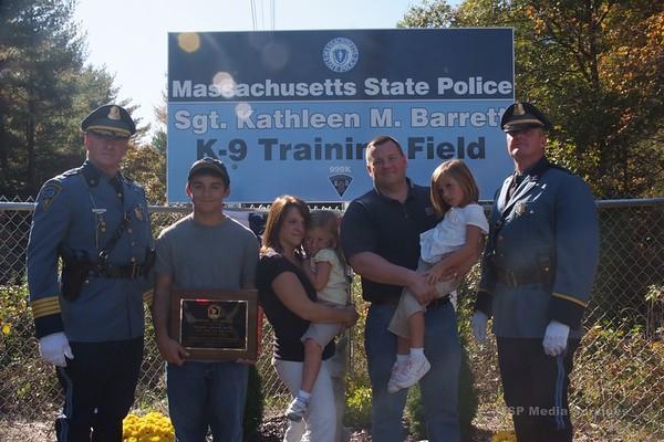 K9 Training Facility Dedication - SP Middleboro - October 2009