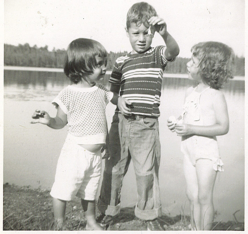 . R. GARCIA of Lake Elmo: �Visiting at Great-Grandma & Grandpa Voight�s farm � in northern Minnesota by Grand Rapids, around 1953 � my big brother Rusty begins my fascination with and love of frogs. �The Little Rascals� convinced us that frogs could be raced; we captured about a dozen, let them out of their jars of captivity, and they ran in every direction � ahhhhh! Loving those days of spring and early summer, with the frogs singing away!�