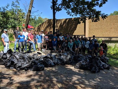 8.23.18 Herbert Run Cleanup with JHU