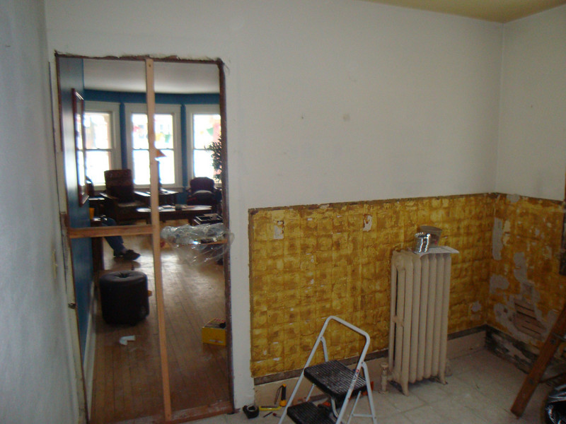 Where the old doorway used to be.