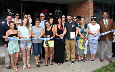 City officials welcome Something Delicious to South Avenue. 5/27/2015