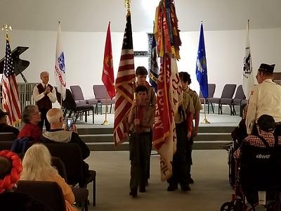 Veteran's Day Flag Ceremony 2018