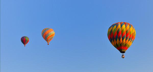 Hot air balloons at the 2013 Clovis Balloon Festival